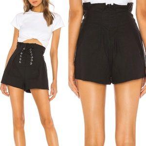 NWT Lovers + Friends Black Knit Shorts XS ::